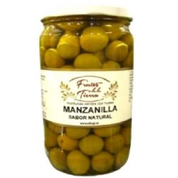 Manzanilla Olives 730g | Green | Unpitted | Buy Online | Spanish Food | UK
